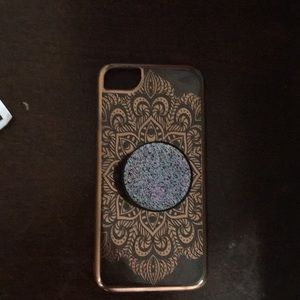 iPhone 6,7, and 8 case with pop socket